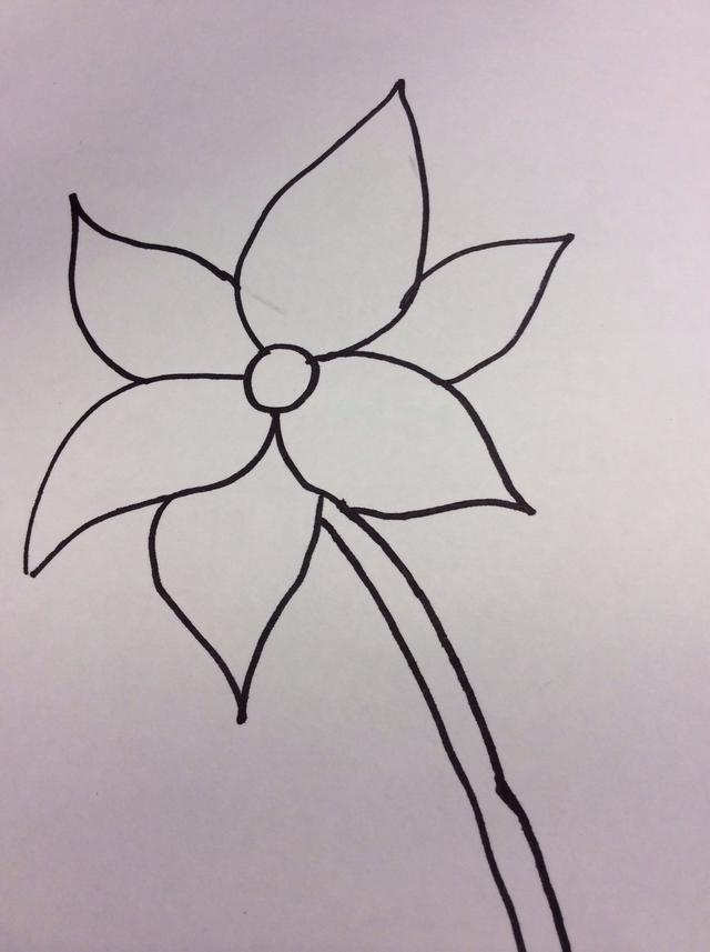 640x857 How To Draw A Simple But Lovely Flower