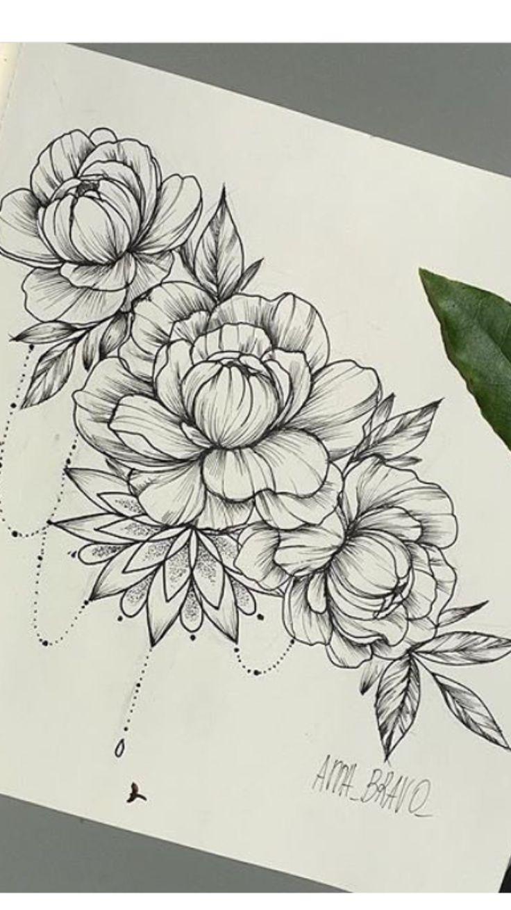 Flower Tattoo Drawing At GetDrawingscom Free For