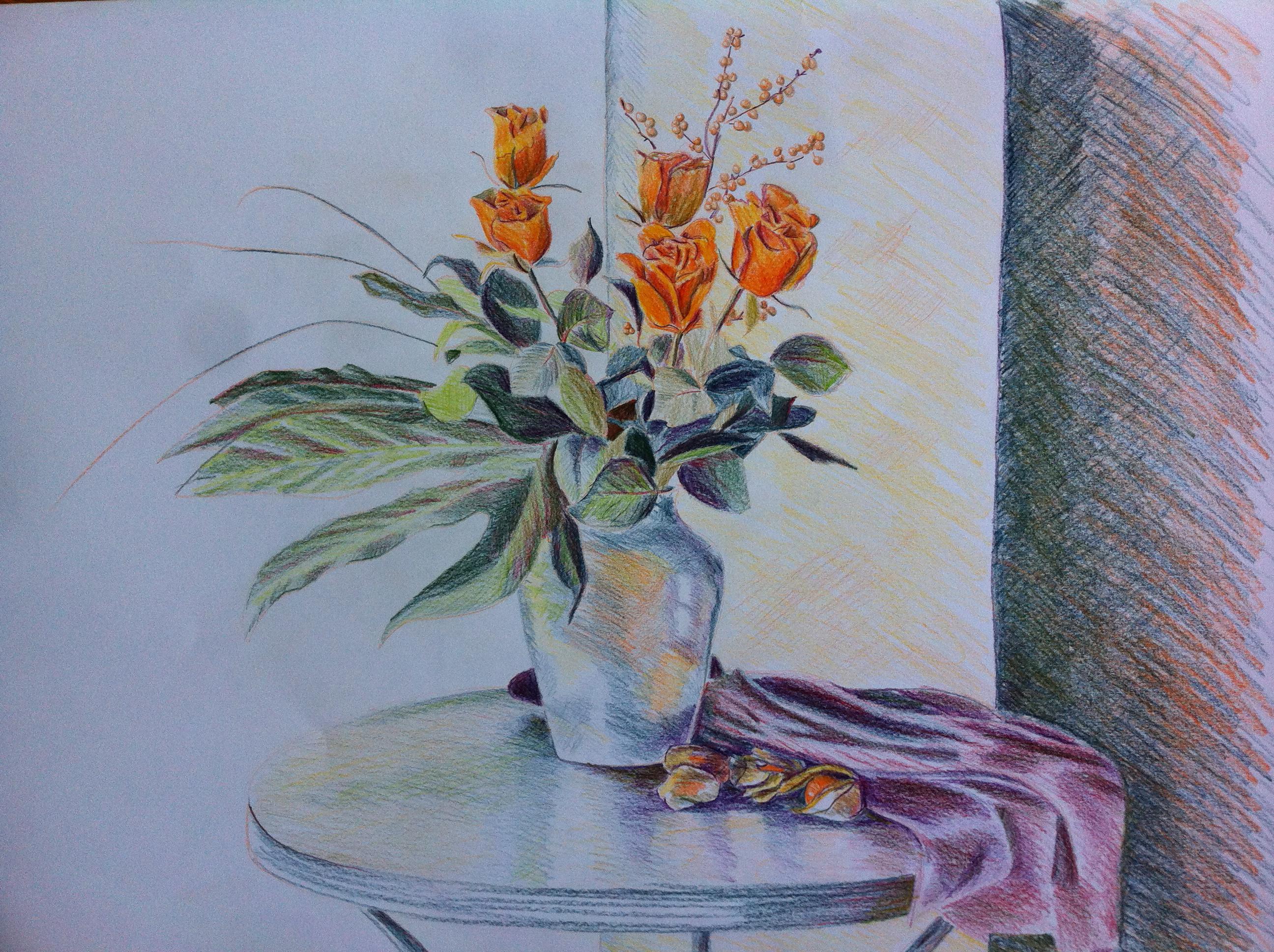 2592x1936 50 New Flower Vase Drawing