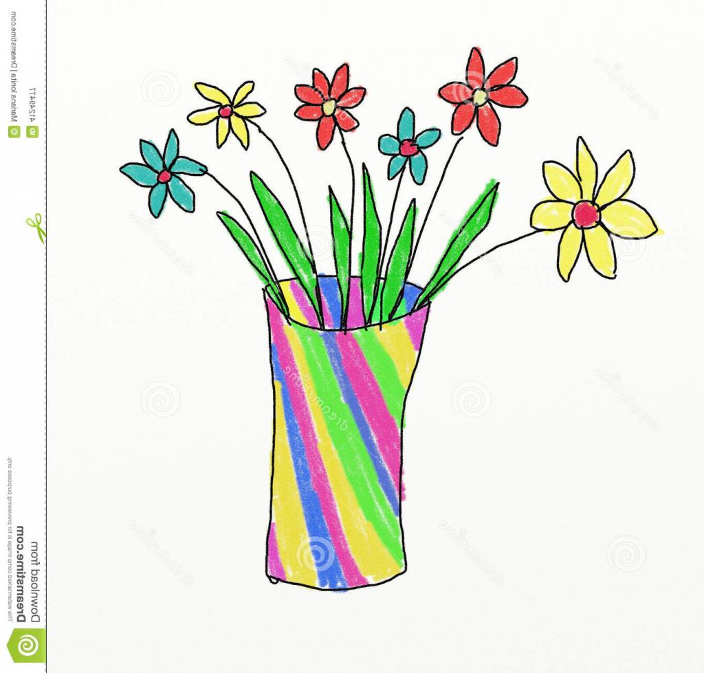 1024x979 Drawing Of Flower Vases For Kids Flower Vase Drawing Kid Drawing
