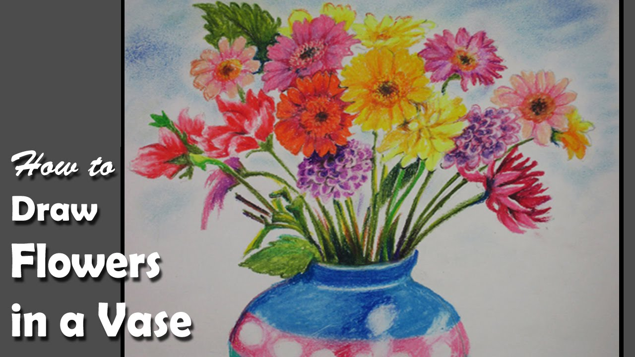 1280x720 Drawings Of Flower Vase Images