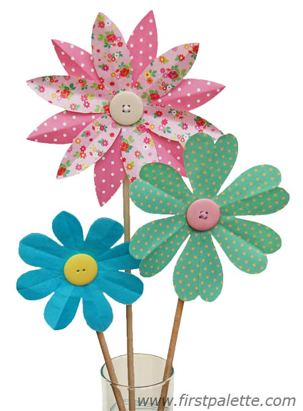425x575 Folding Paper Flowers Craft 8 Petal Kids39 Crafts