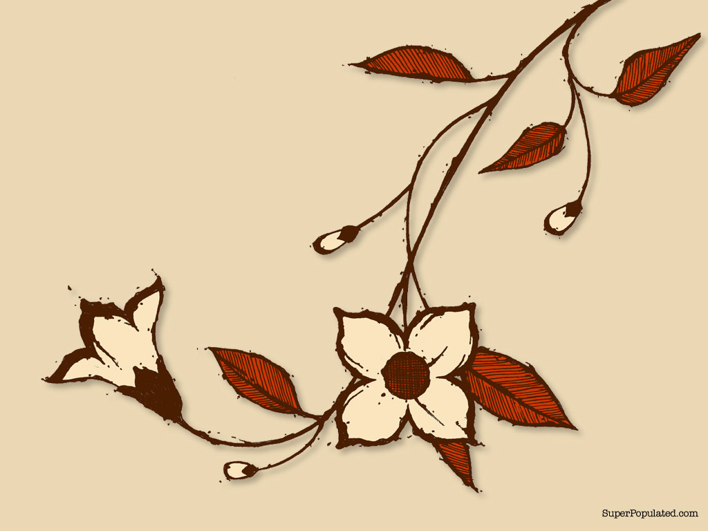 1024x768 Flower Vine Drawing Flower Vine Drawings Flower Vine Drawing Tulip