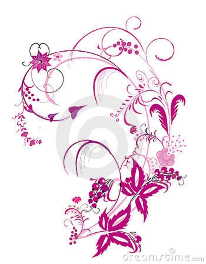 700x900 Flowering Vine Designs Purple Flower And Vines Pattern Royalty
