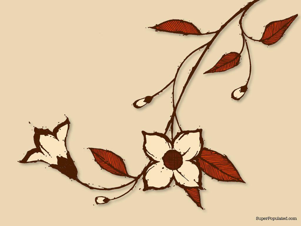 1024x768 Flowers Vines Drawing Images Art Flower Vines