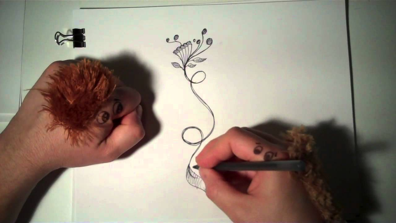 1280x720 How To Draw Sketch Doodle Flowers And Vine Misterelements
