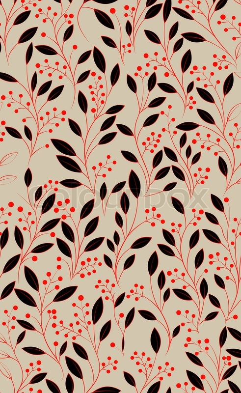 491x800 Abstract Hand Drawing Seamless Pattern With Flowers, Can Be Used