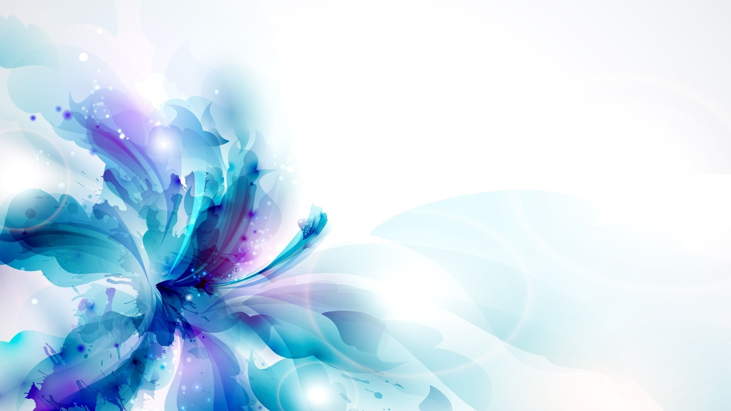 2560x1440 Download Wallpaper 2560x1440 Flower, Patches, Drawing, Colorful
