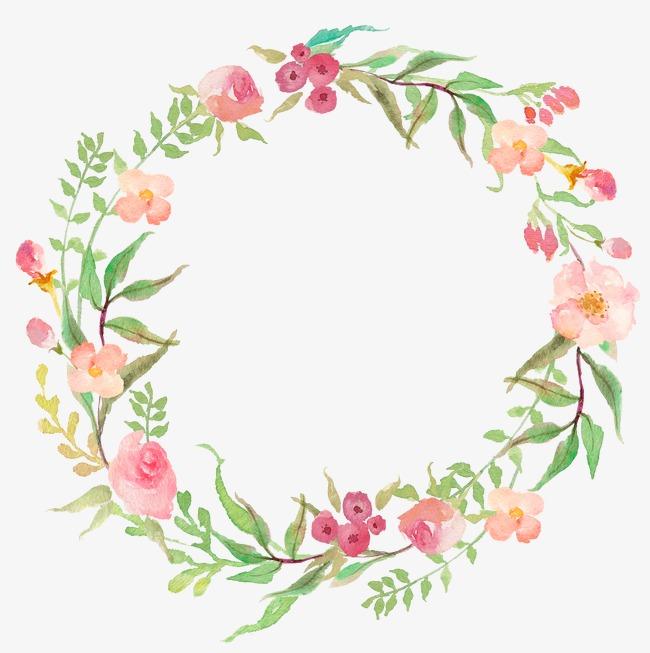 650x653 Drawing Circular Wreath 18, Flower, Watercolor, Ring Png Image