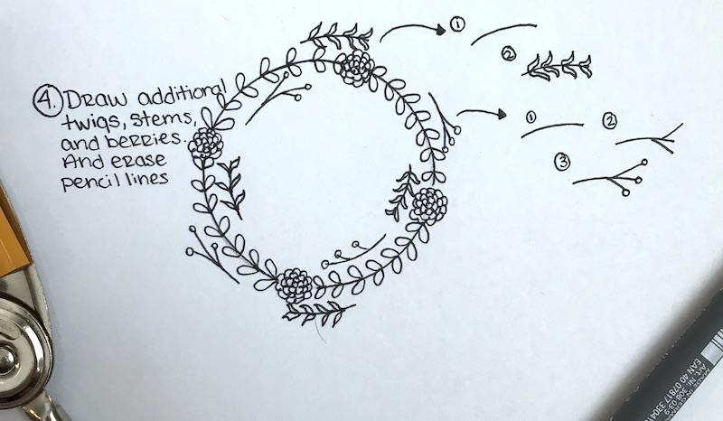 800x466 How To Draw A Simple Floral Wreath