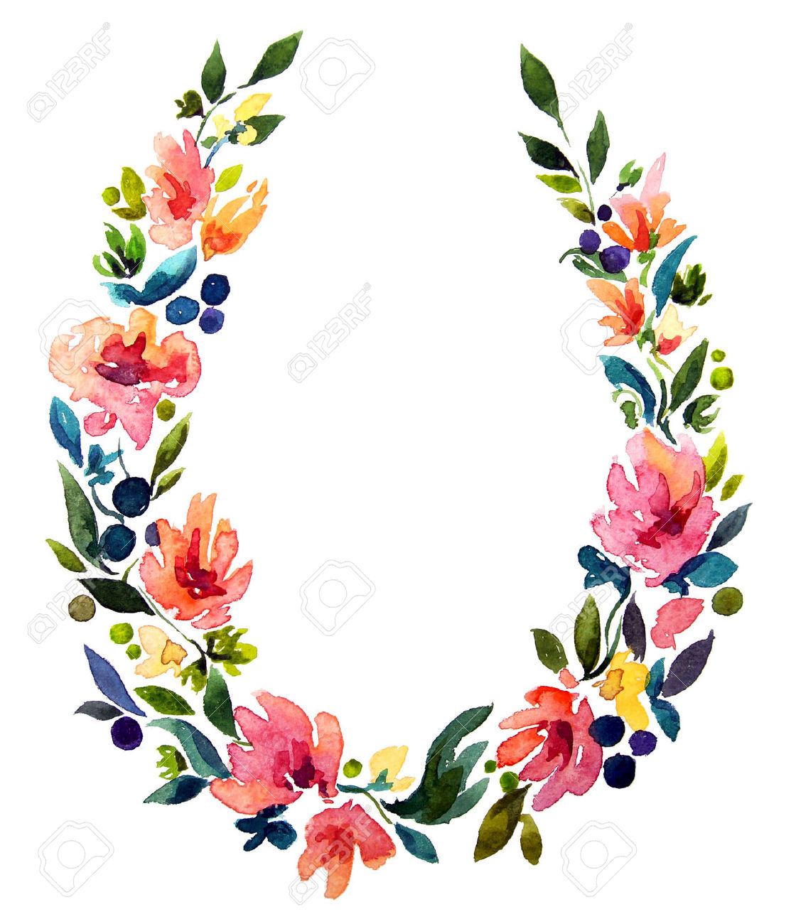 Flower Wreath Drawing At Getdrawings Com Free For