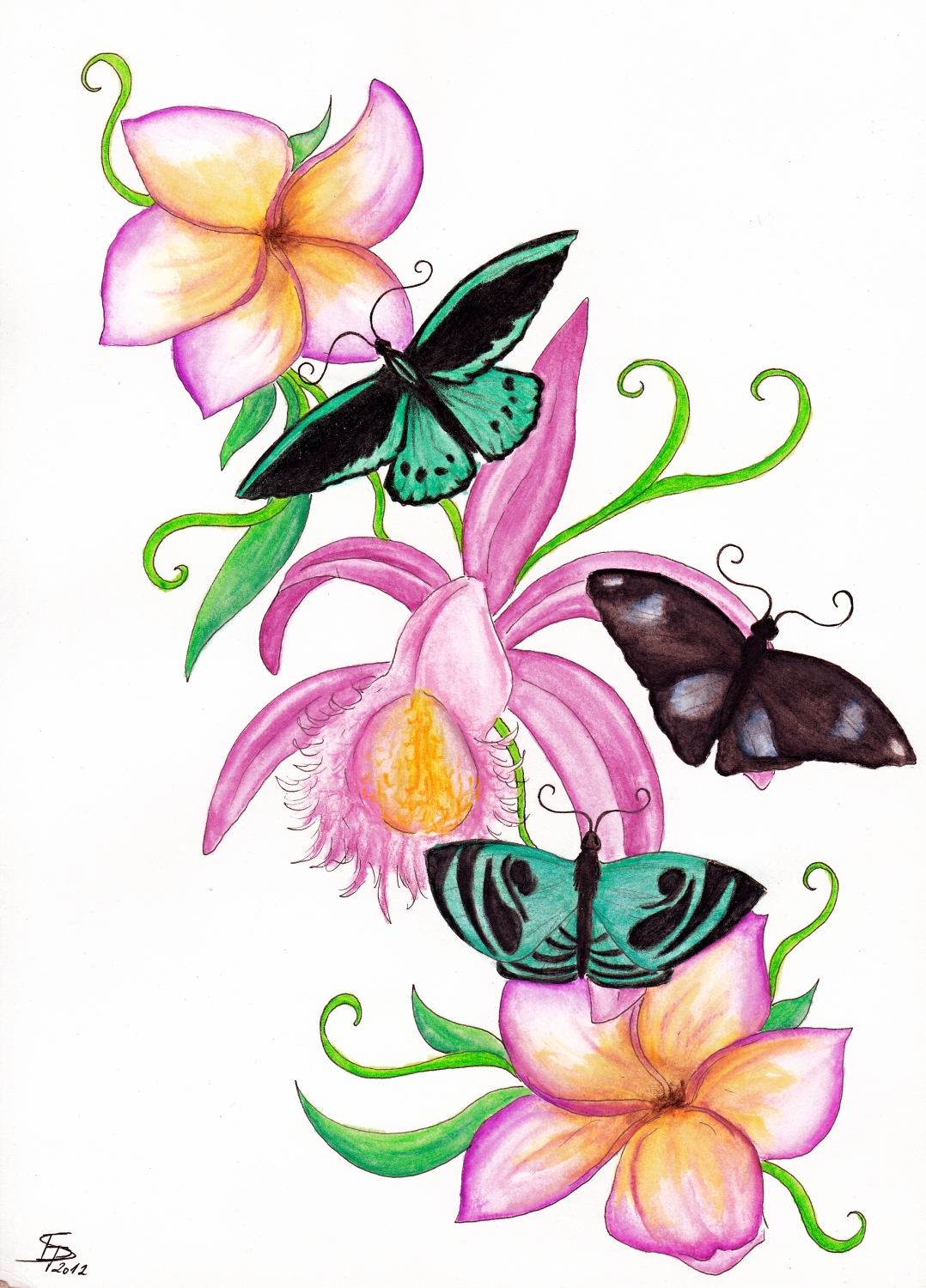 1078x1500 Drawings Of Butterflies And Flowers Butterflies And Flowers