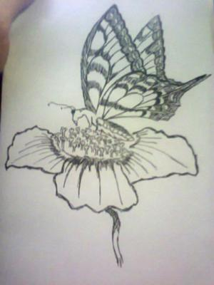 300x400 My First Butterfly =drawing