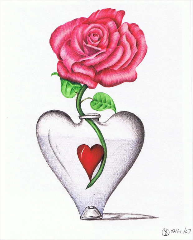 620x772 20 Heart Drawings Art Ideas Design Trends