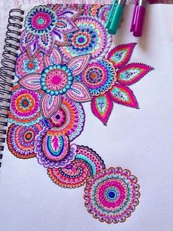 352x470 Art, Draw, Drawing, Flowers, Love, Pink, Purple