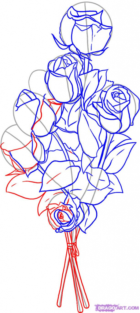 458x1024 Flower Bouquet Drawing How To Draw Roses, Stepstep, Flowers, Pop