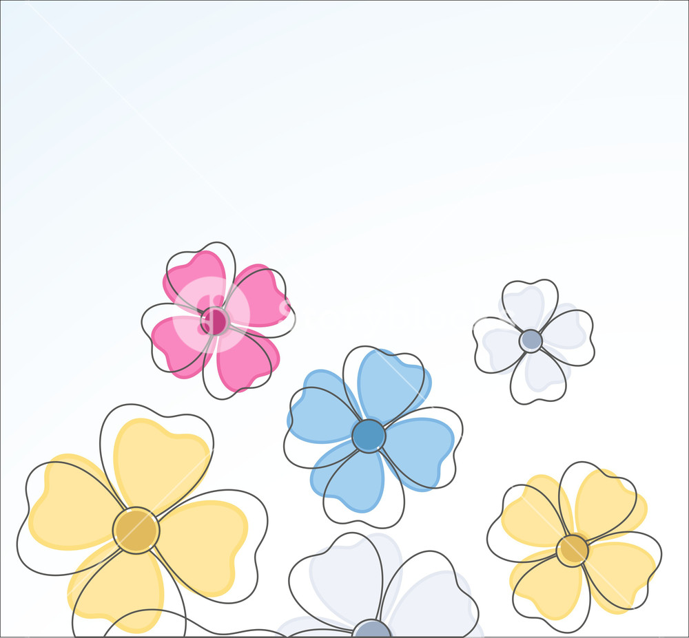 1000x927 Flowers Drawing Background Royalty Free Stock Image