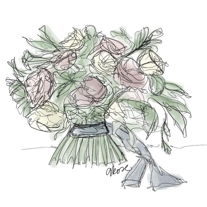705x705 Flower Drawings For Design Inspiration From Team Flower