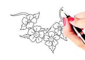 300x210 Simple Drawing Flowers Simple Flower