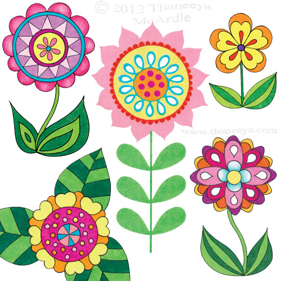 Flowers drawing easy at free for for How to draw a cute flower