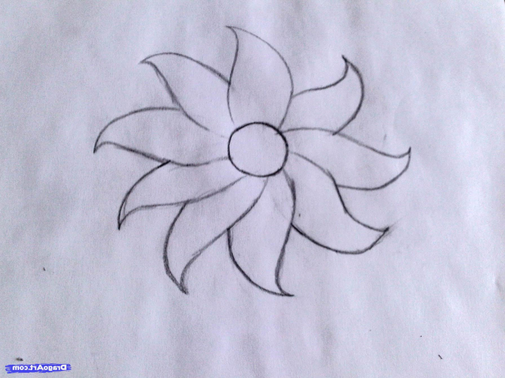 Flowers drawing easy at getdrawings free for personal use 1024x768 how draw beautiful and easy flowers flower drawing easy how izmirmasajfo