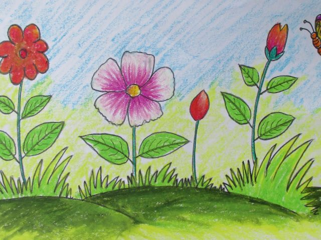 Flower Child Line Drawing : Flowers drawing for kids at getdrawings free personal
