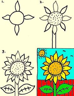 236x308 Simple Flower Pictures To Draw How To Draw A Flower Easy, Step