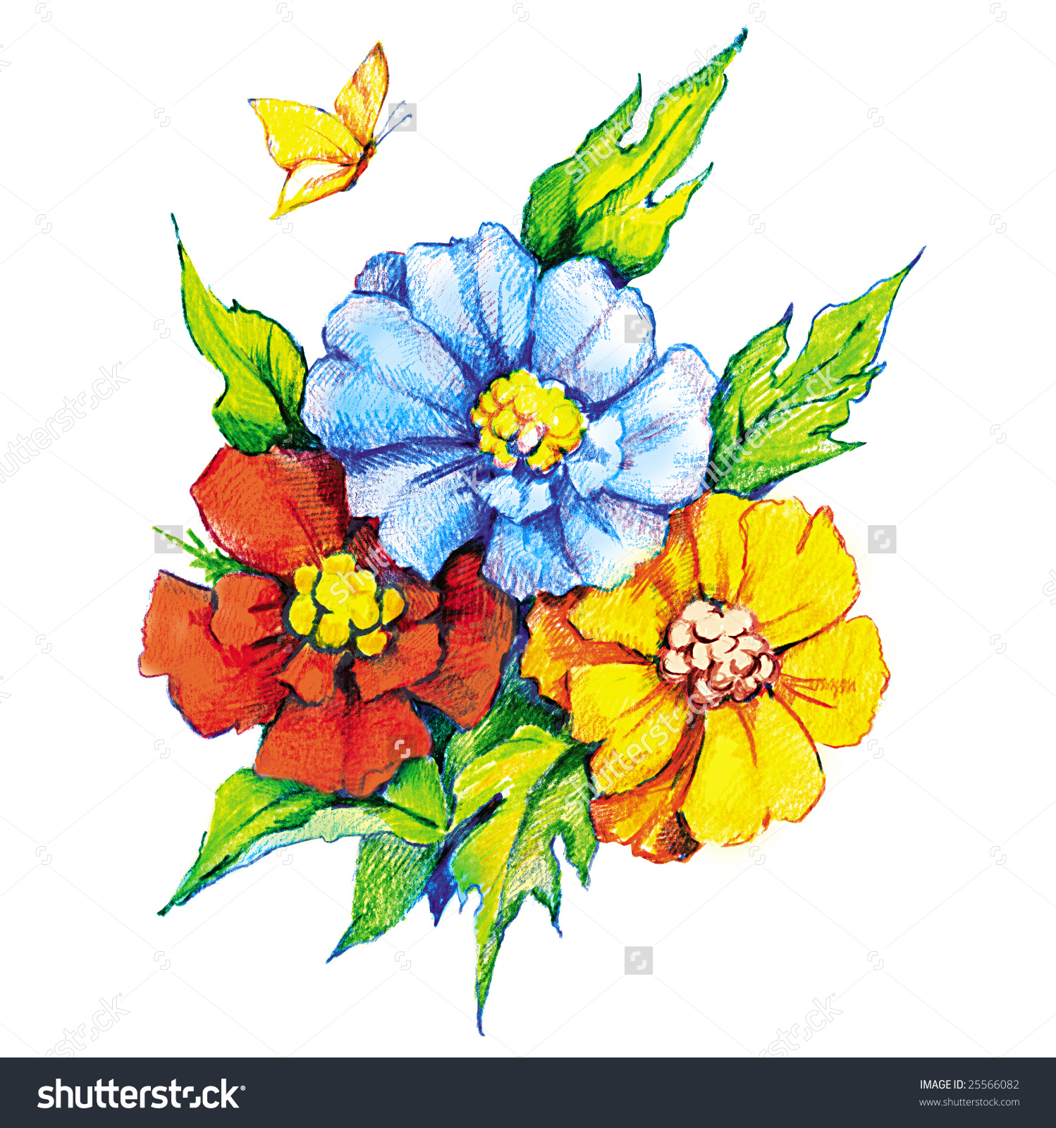 1498x1600 Flowers In Drawing Colour Beautiful Colour Pencil Sketches