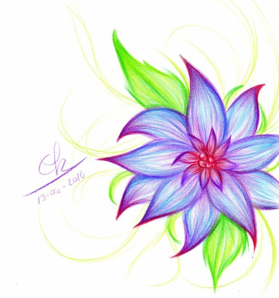 Easy Flower Drawings In Pencil: Flowers Drawing Pictures Pencil At GetDrawings