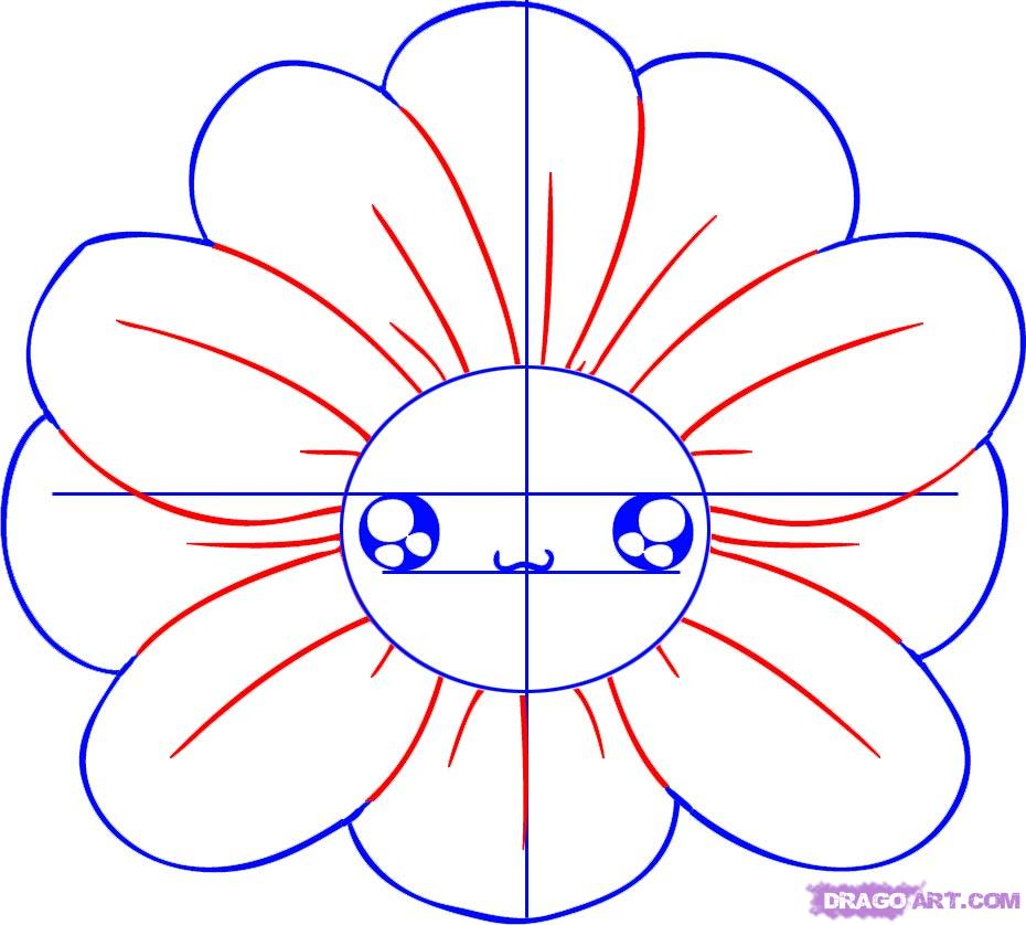 930x838 How To Draw A Chibi Flower Drawing Flowers Chibi