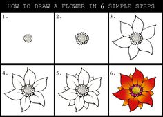 236x169 Learn To Draw Flowers Of All Kinds, From Simple Daisies To Complex