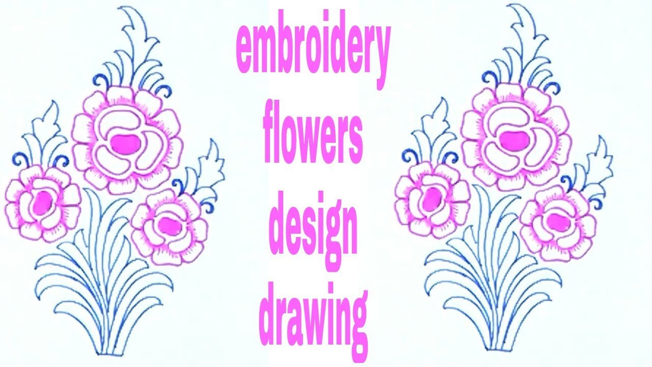 1280x720 How To Draw Simple Flowers Drawing For Embroidery Saree Designs