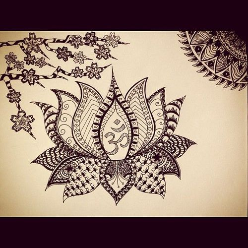 500x500 Imgs For Gt Lotus Flower Drawing Tumblr On We Heart It