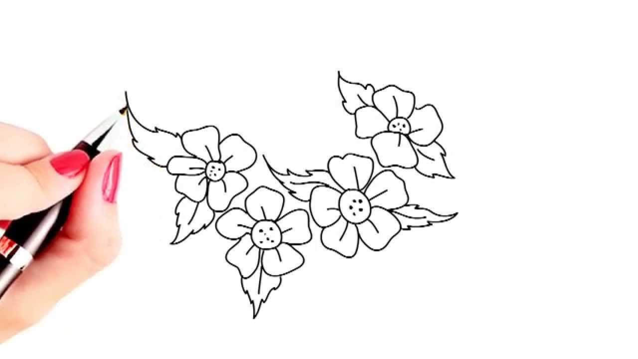1280x720 Drawings Of Beautiful Flowers In A Garden Easy Drawing How To Draw