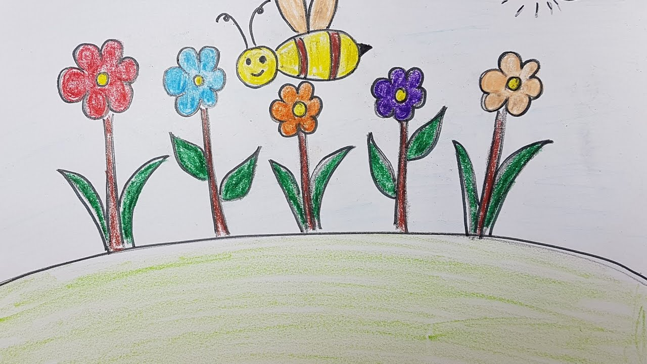 1280x720 Simple Drawing For Kids Flowers Easy Drawing Of Flowers Easy