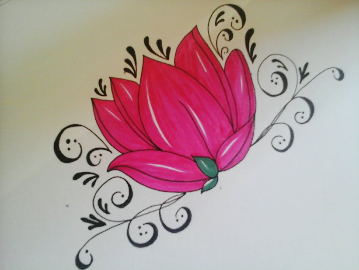 1250x938 How To Draw Flowers For Beginners