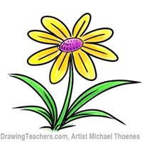 200x200 Cartoon Flower