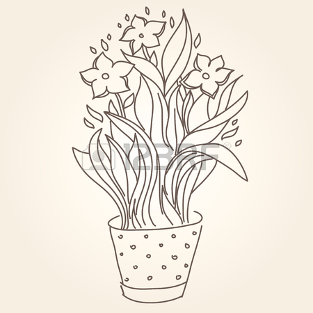450x450 Branch Of Lilac Flowers Drawing. Good For Wallpaper, Textile