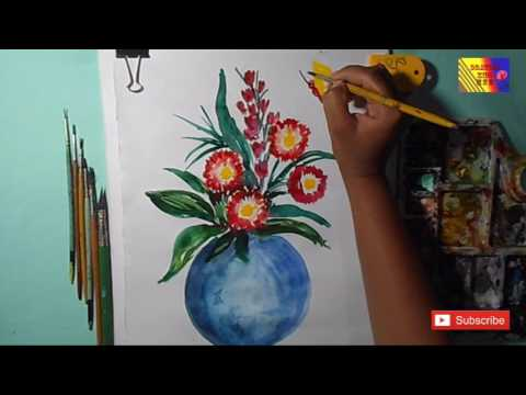 480x360 How To Draw A Flower Pot Easy Steps By Step Water Color Drawing