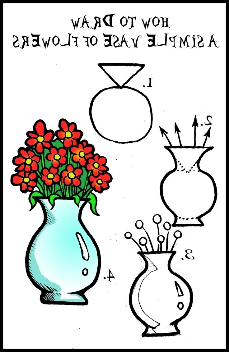 736x1133 How To Draw Flower Vase Choice Image