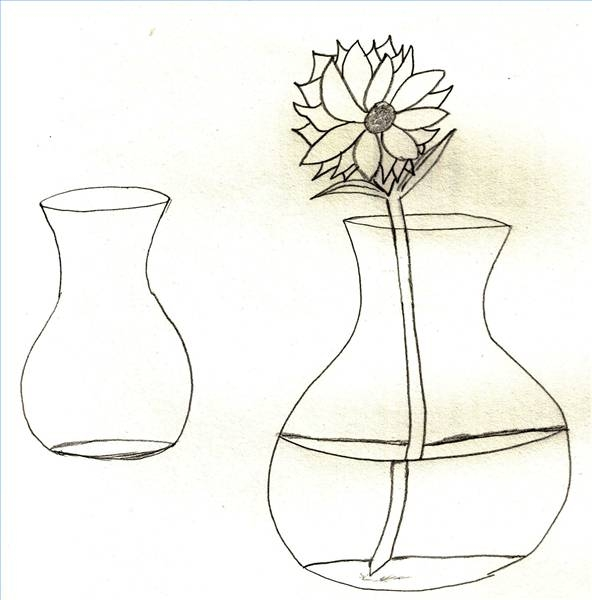 592x600 How To Draw Flowers In A Vase Our Pastimes