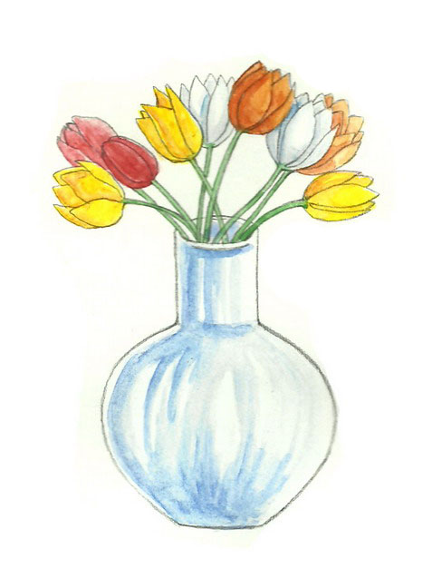 Flowers In A Vase Drawing At Getdrawings Free For Personal Use