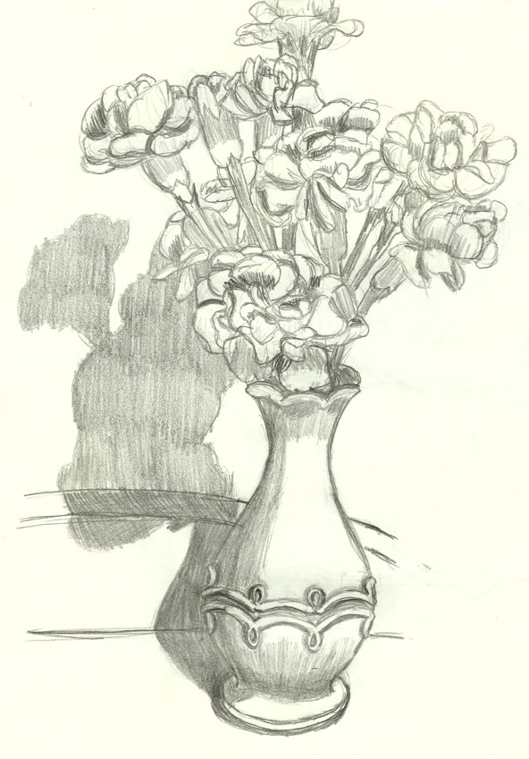 592x849 vase with flowers by neko765 on deviantart