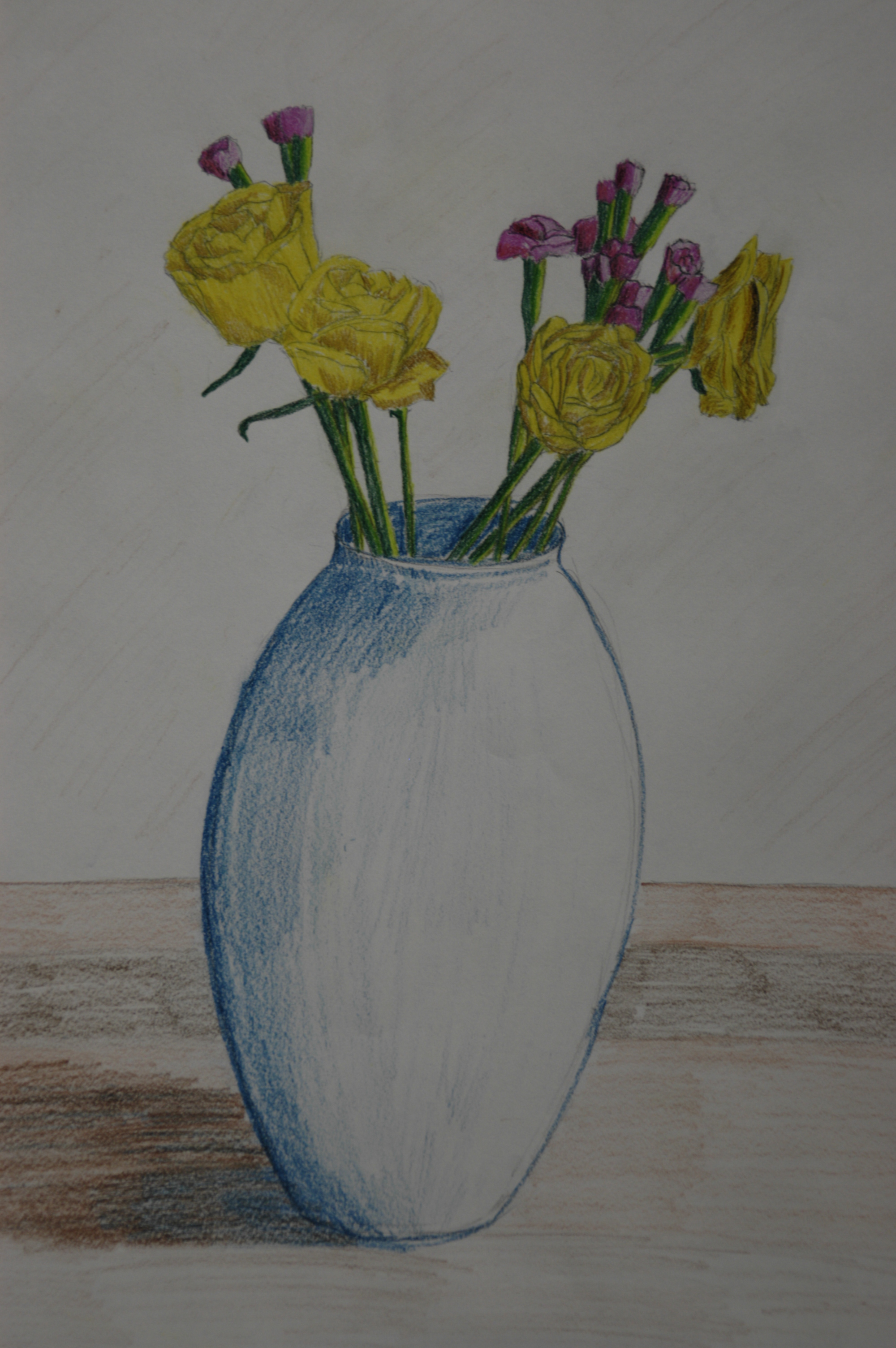 2000x3008 Drawing Plants And Flowers Plants And Flowers In Coloured Pencil