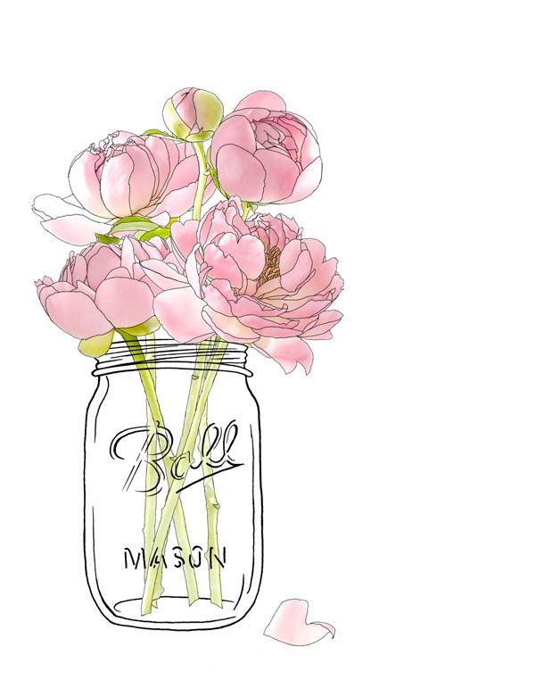 610x762 Ball Mason Jars Flower Series