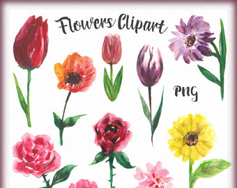 340x270 Flowers Drawing Etsy