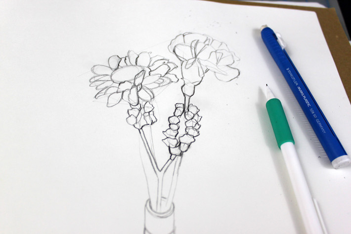 710x473 Step By Step Drawing Flowers Tutorial
