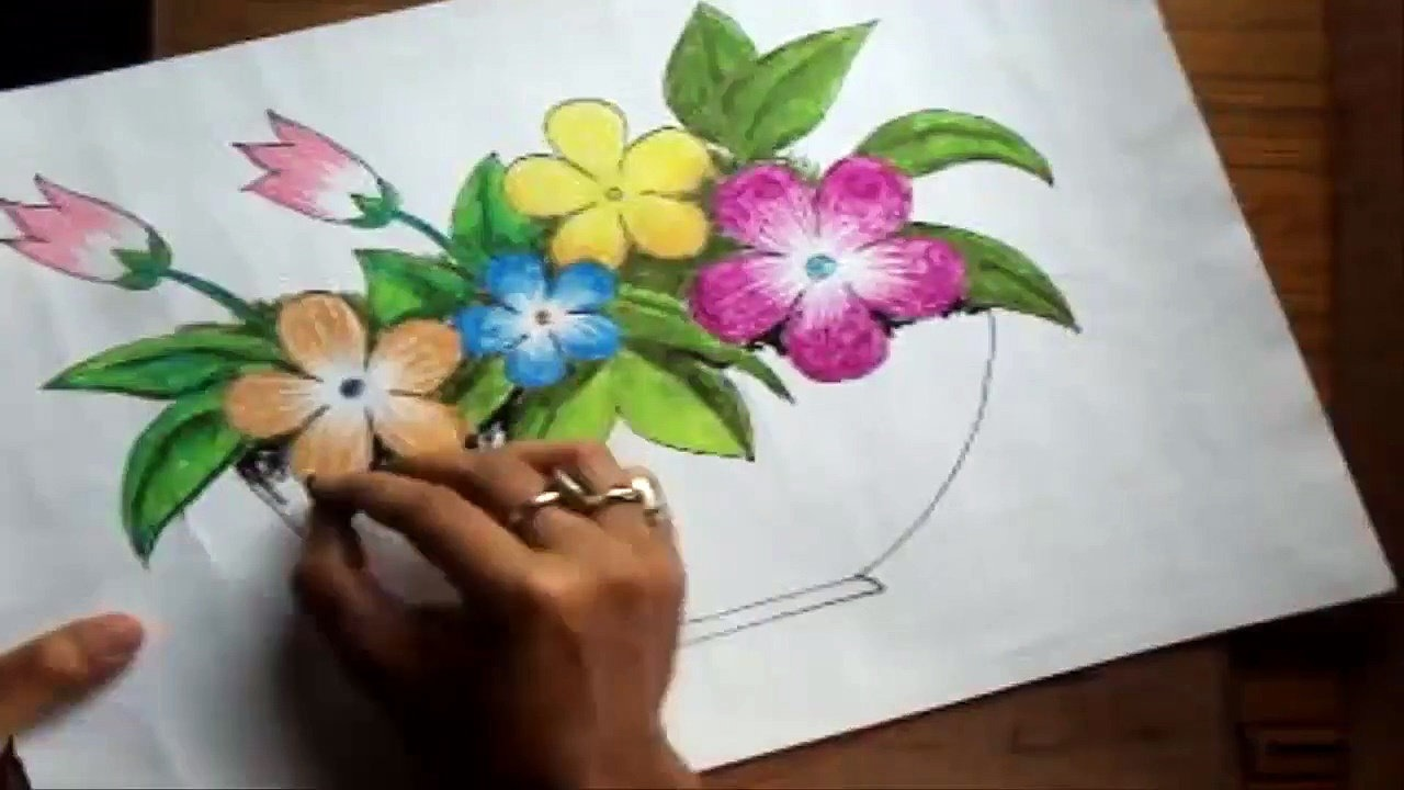 Flowers Vase Drawing At Getdrawings Com Free For Personal Use