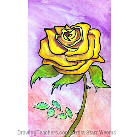 550x550 To Draw Roses