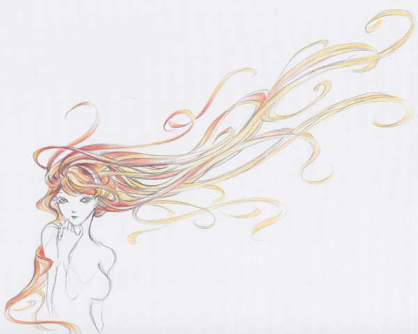how to draw anime flowing hair